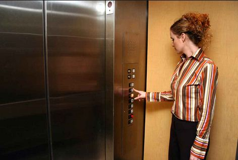 women in elevators