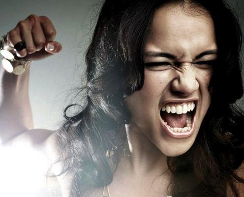 angry girl photo