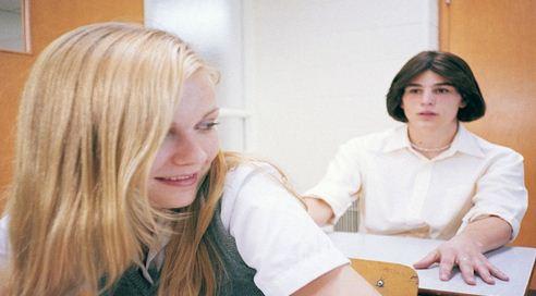 girls in class room