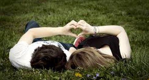 lovers in garden