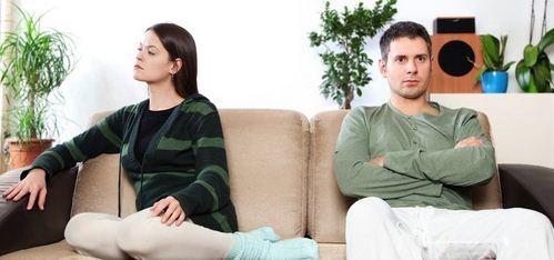 men and women not talking