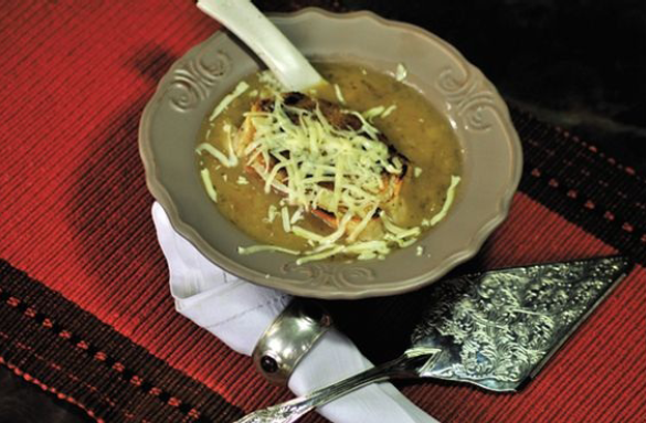 brown oinion soup