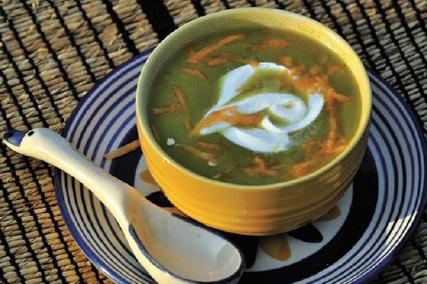 carrot peas soup