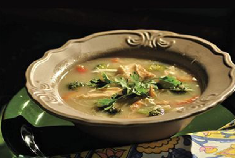 chicken soup with rice noodles