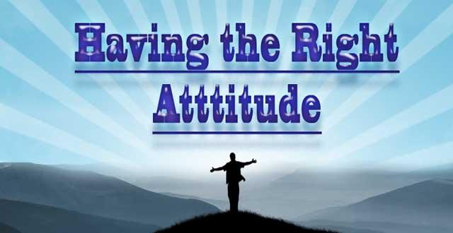 image for the right attitude