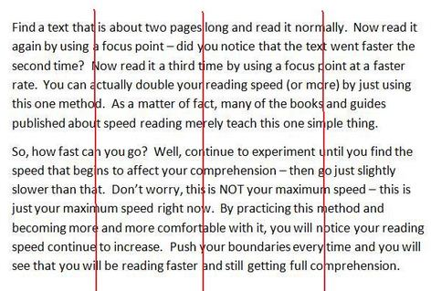 speed reading photo