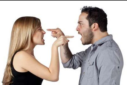 men and women arguing
