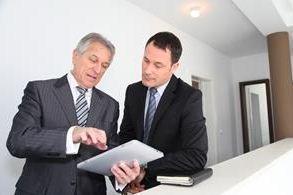 men discussing business