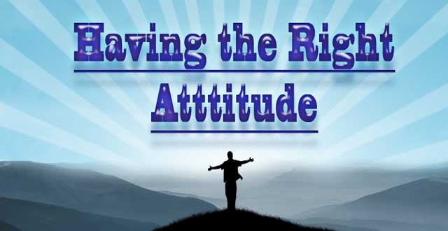 image for the right attitude